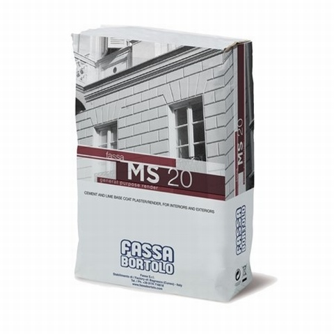 FASSA MS20 Cement mortar Render for masonry.