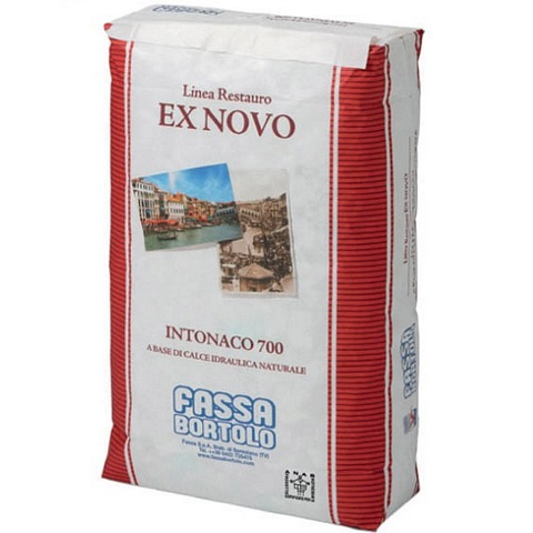 FASSA INTONACO 700  Bio-plaster based on natural hydraulic lime NHL 3,5 for interiors and exteriors