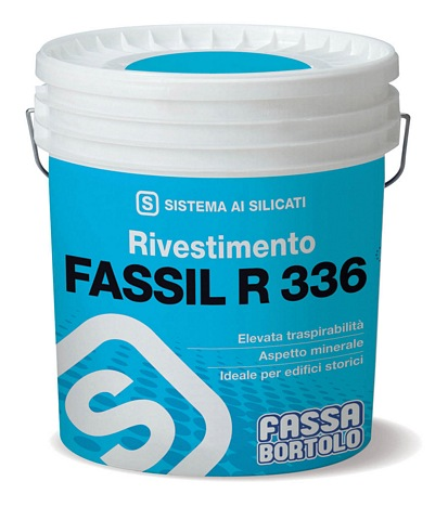 FASSA FASSIL R336 - In 1.0 or 1.5mm finish  SILICATE SYSTEM PASTEL WHITE 14l