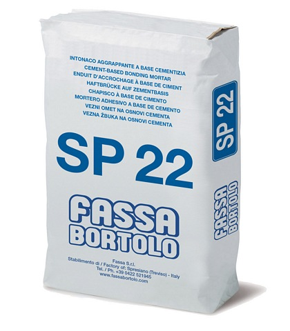 FASSA SP 22 - High performance cement undercoat for concrete substrates for exteriors and interiors 25kg