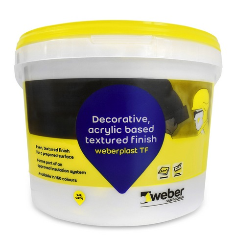 WEBERPLAST TF 1.5 - WINTER WHITE 15KG.  (Available to be tinted in various colours, please call for more information.)