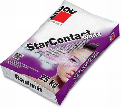 Baumit Star Contact White 25kg it is a dual-purpose contact mortar that works as an adhesive for facade insulation or as a thin layer basecoat on insulation boards