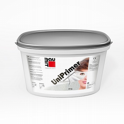 Baumit UniPrimer 25kg  is a universal surface primer formulated for external use.  (Available to be tinted in various colours, please call for more information.)