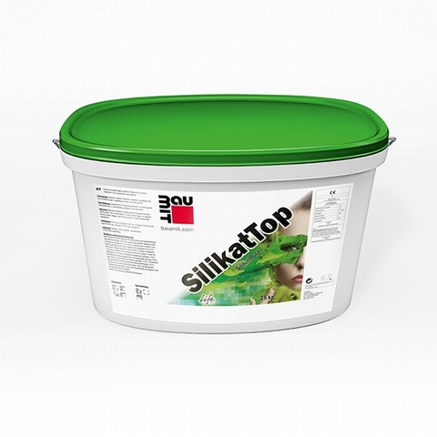 Baumit SilikatTop White Top Coat (25kg): K1.5mm, K2mm, K3mm (Can be tinted in a wide range of colours. Please call for more information.)