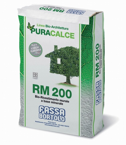 FASSA RM 200 Bio white mineral-based wall coating for exteriors and interiors
