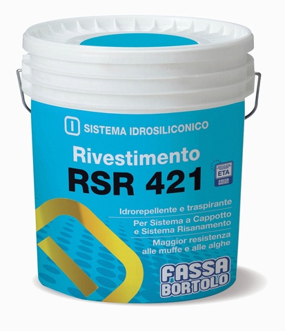 FASSA RSR 421 Silicone coating with rustic finish.