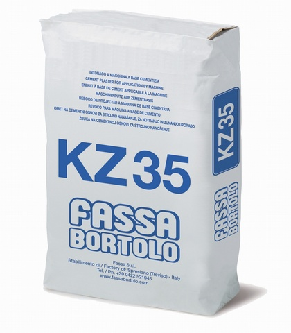 FASSA KZ35 LIME/CEMENT BASE COAT RENDER WITH WATER REPELLENT FOR PLINTHS 30 KG